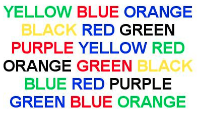 BJU colour words