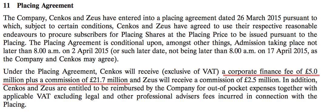 CNKS Haversham admission document placing fees