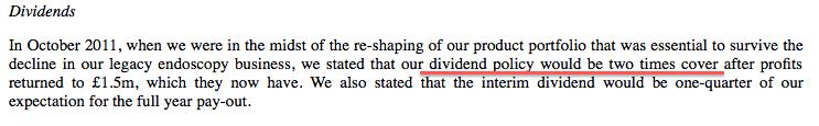 TSTL dividend policy Feb 2015