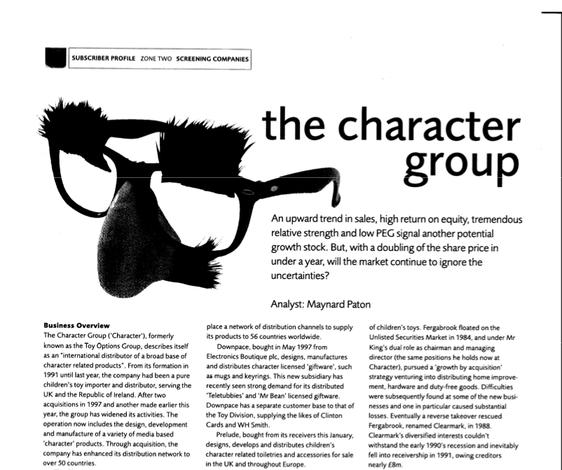 maynard paton fire retire early analyst magazine character group