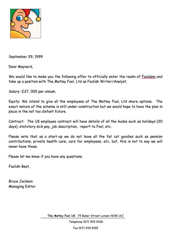 maynard paton fire retire early fool job offer
