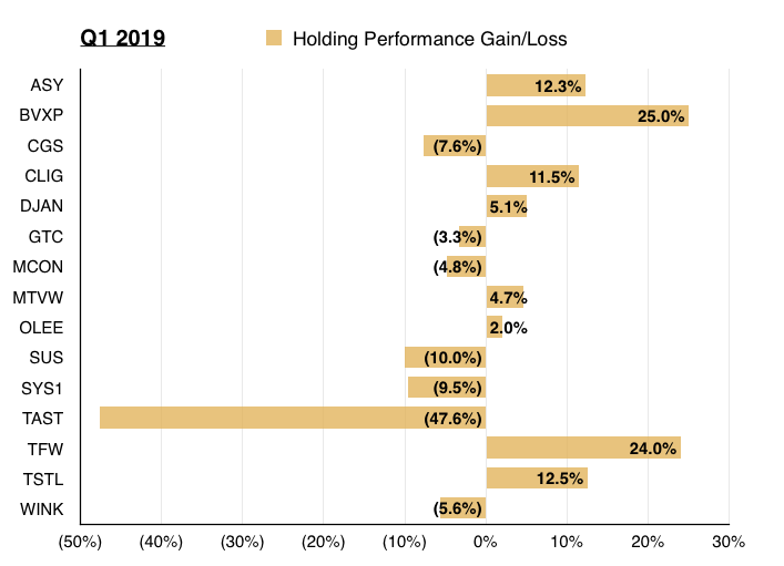 q1 2019 maynard paton portfolio share returns