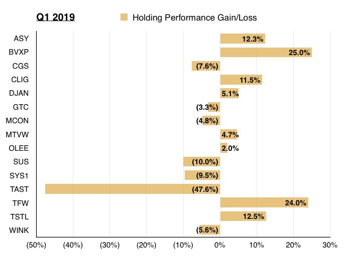 q1 2019 maynard paton portfolio share returns