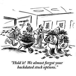 share options cartoon backdated options
