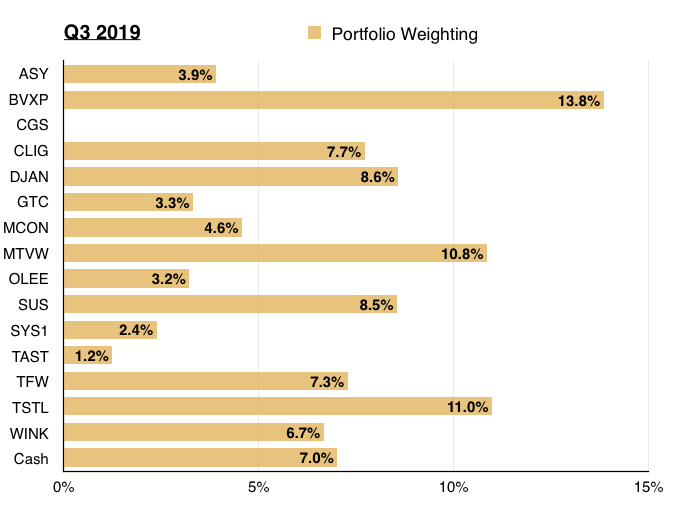maynard paton q3 2019 portfolio update portfolio weighting