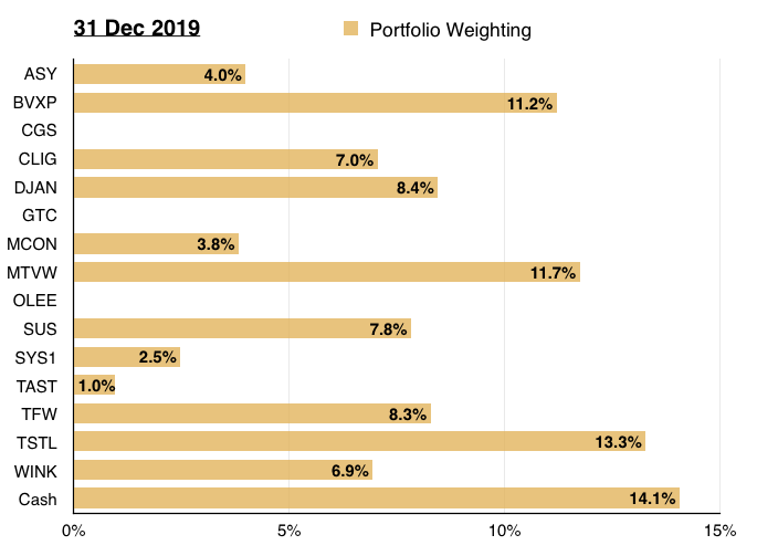 maynard paton 2019 portfolio review 2020 start portfolio weighting