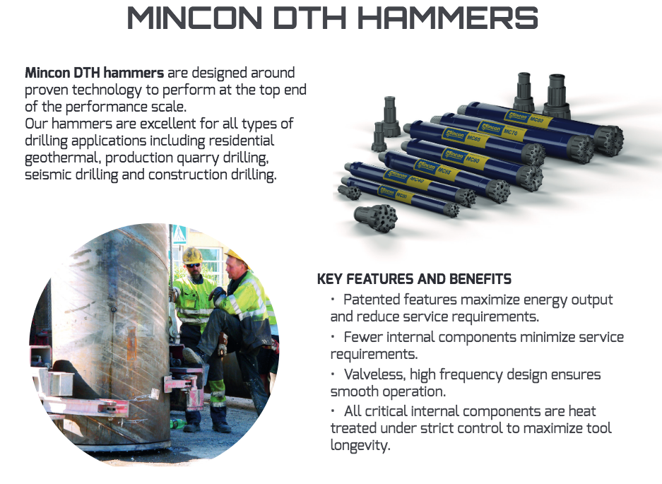 mcon mincon fy 2019 results dth drill brochure