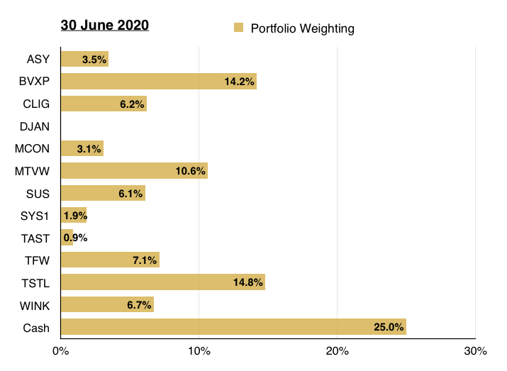 q2 2020 maynard paton portfolio weighting