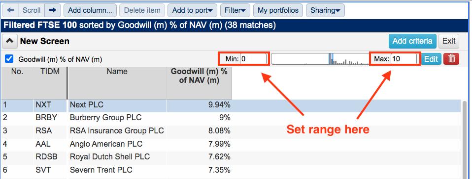 sharepad best stock screener versus stockopedia results