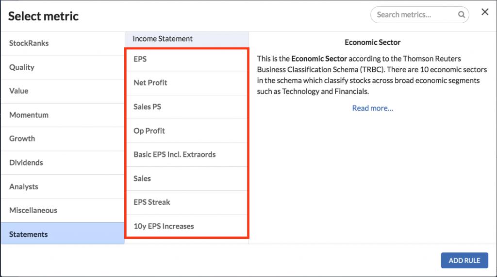 sharepad best stock screener versus stockopedia screener accounting